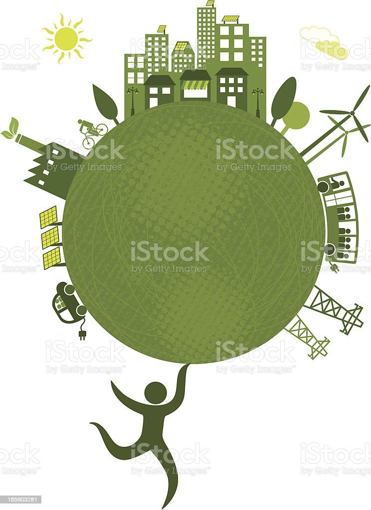 Eco-friendly concept of green technologies royalty-free stock vector art