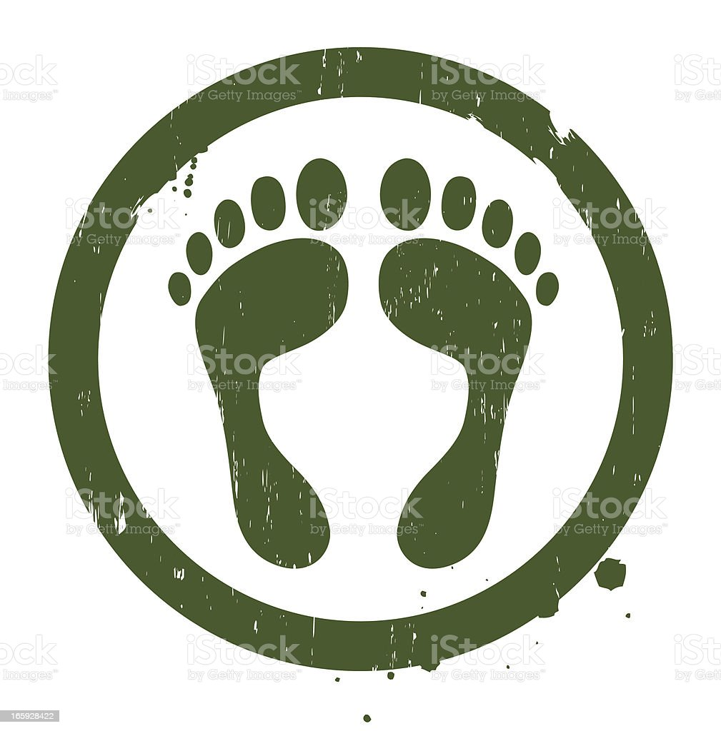 Eco-friendly green footprint emblem royalty-free stock vector art