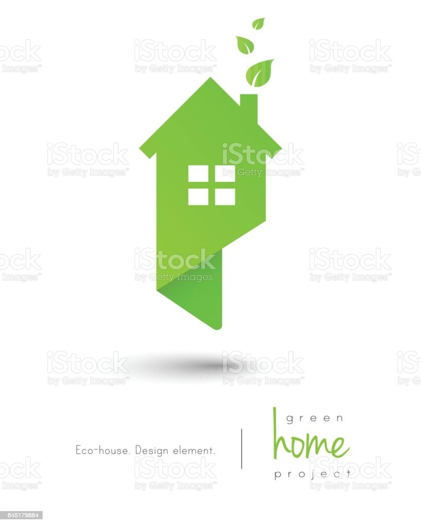 Eco-friendly house vector art illustration