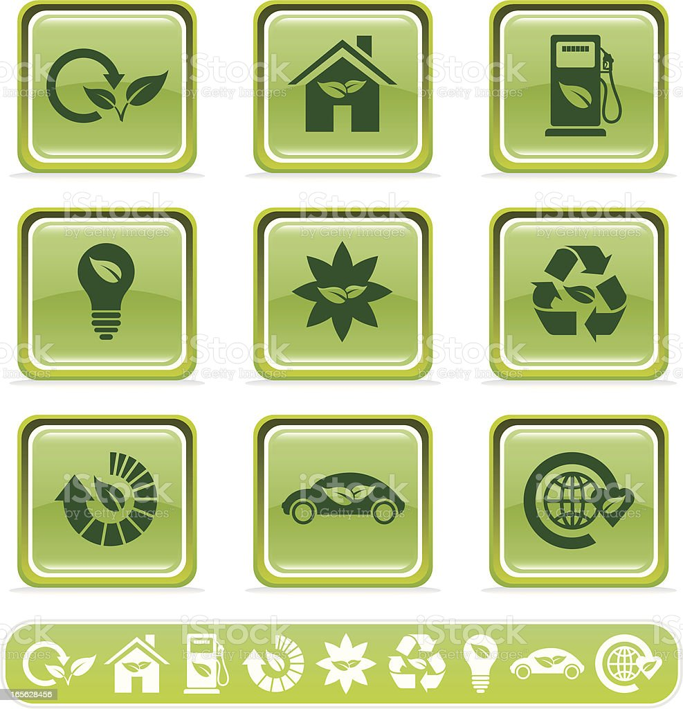 Eco-Lifestyle Icons royalty-free stock vector art