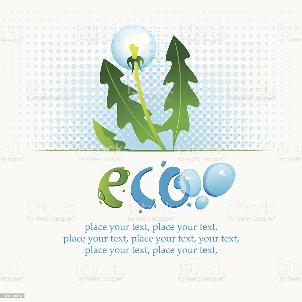 Ecological banner royalty-free stock vector art