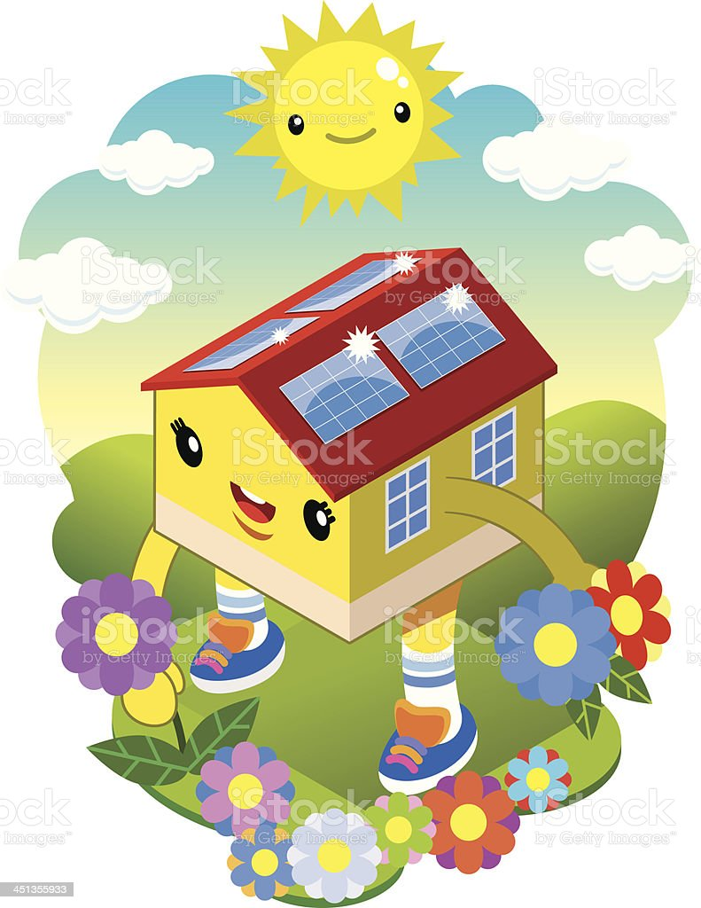 ecological house royalty-free stock vector art