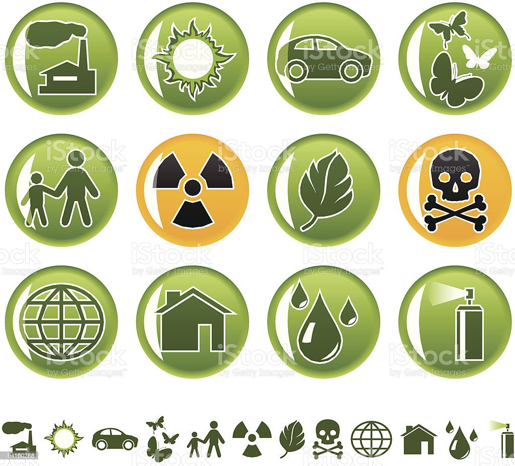 Ecological icons royalty-free stock vector art