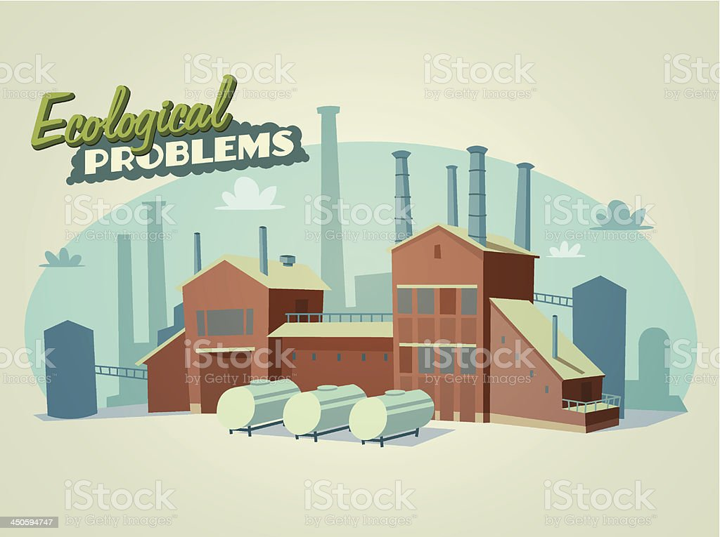 Ecological problems royalty-free stock vector art