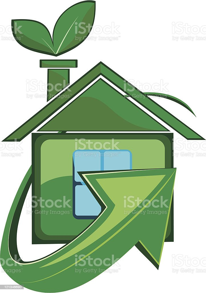 Ecologically clean house royalty-free stock vector art