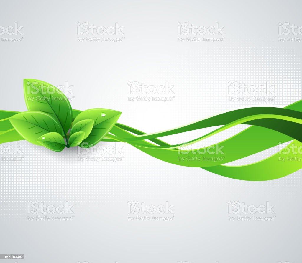 Ecology background vector art illustration