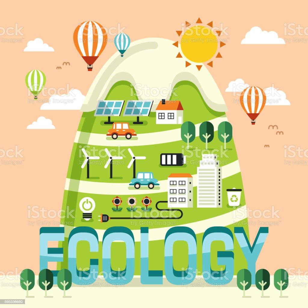 Ecology concept design vector art illustration