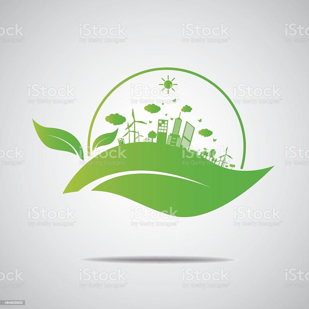 Ecology concept. save world vector art illustration