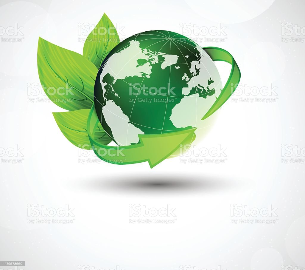 Ecology concept vector art illustration