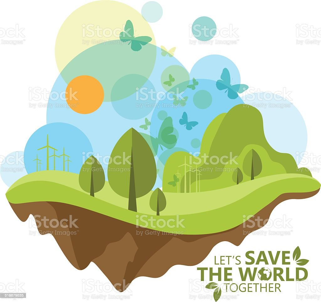 Ecology Concept Vector vector art illustration
