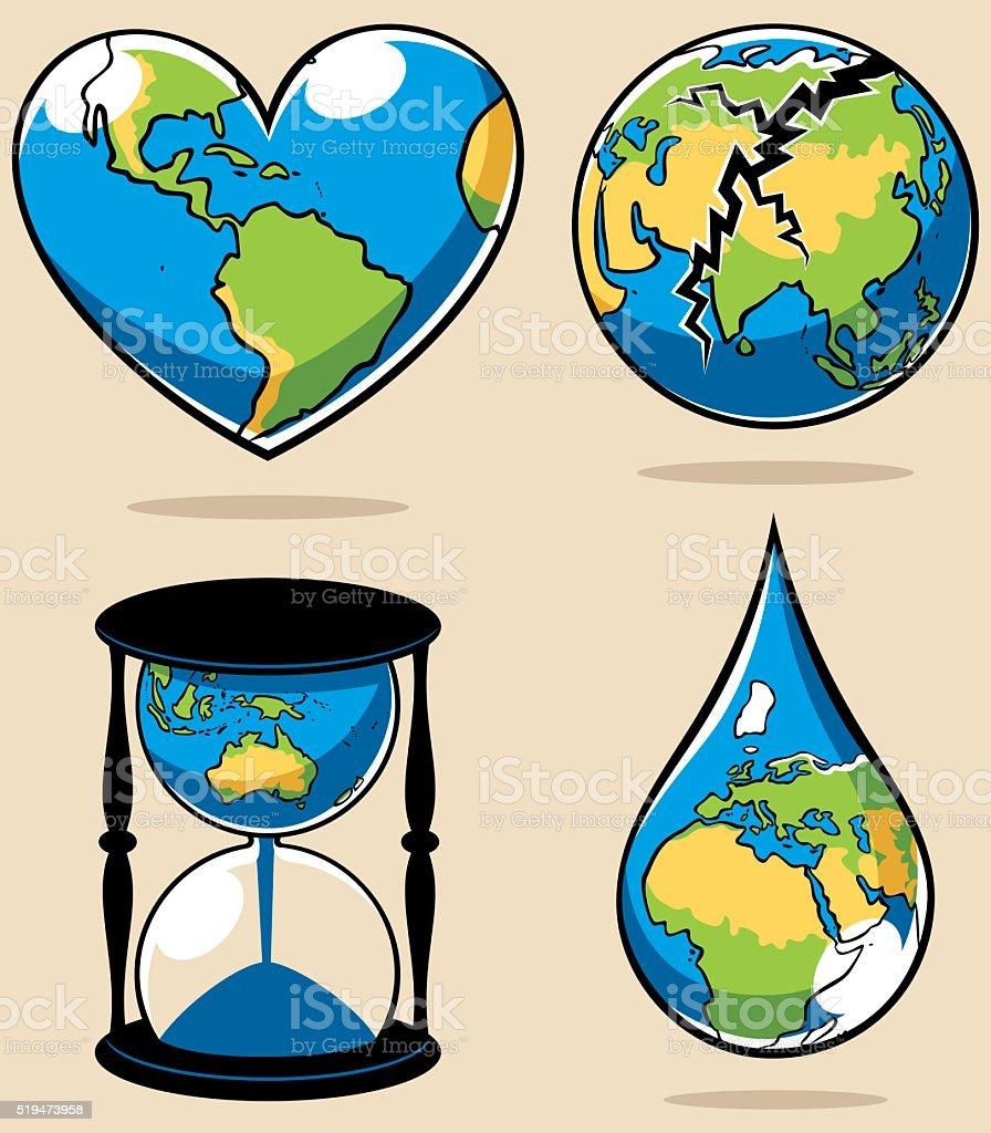 Ecology Concepts 2 vector art illustration