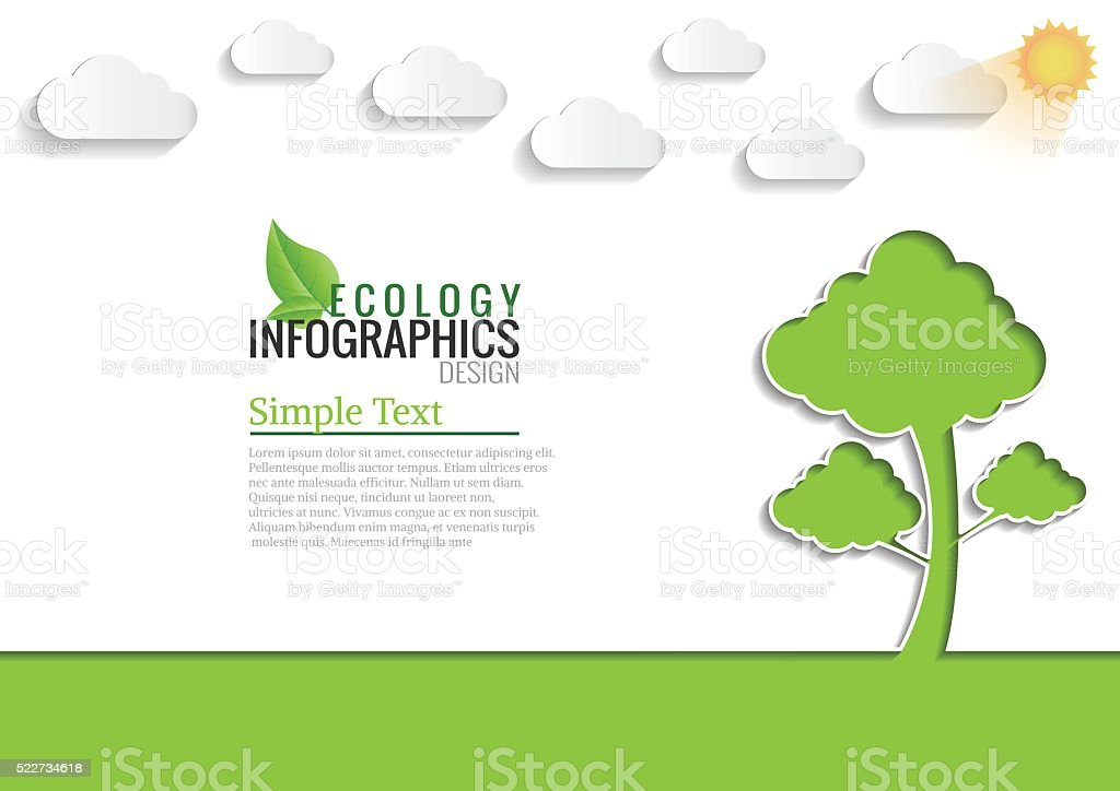 Ecology connection concept background .Vector infographic illust vector art illustration