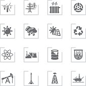 Ecology & Energy Icons | Framed Grey