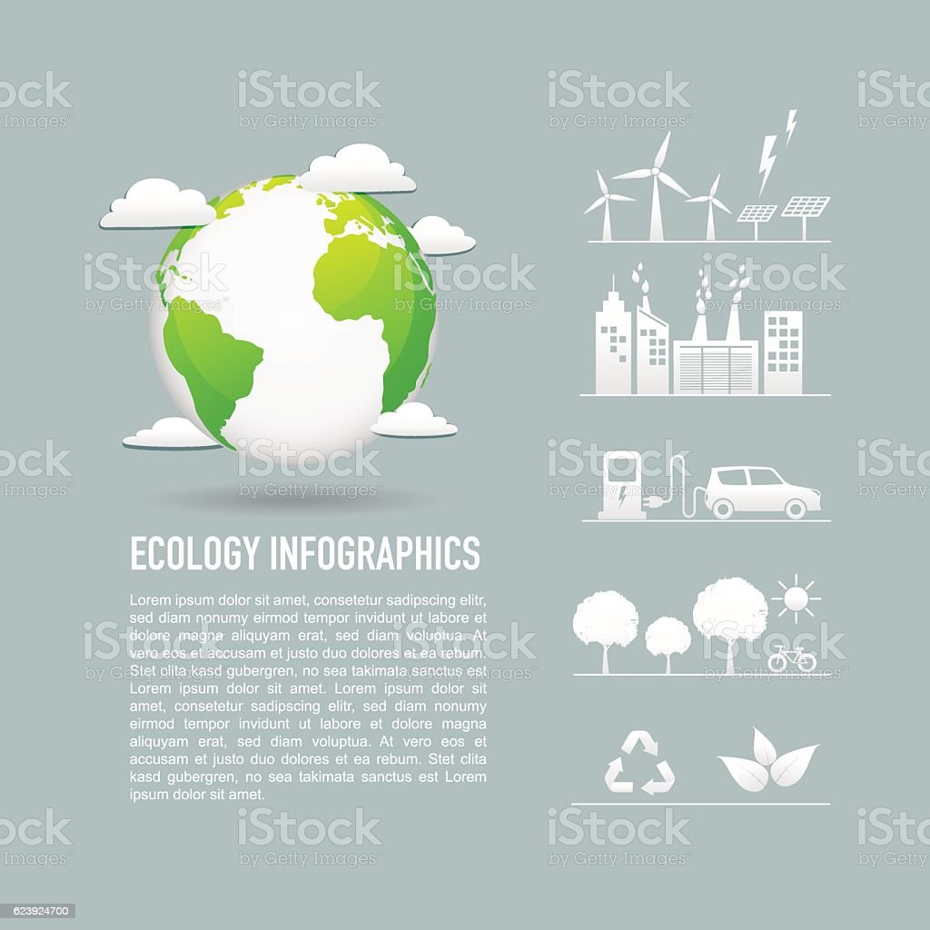 Ecology friendly concept vector art illustration