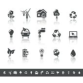 Ecology & Green Environment Icons | Simple Grey