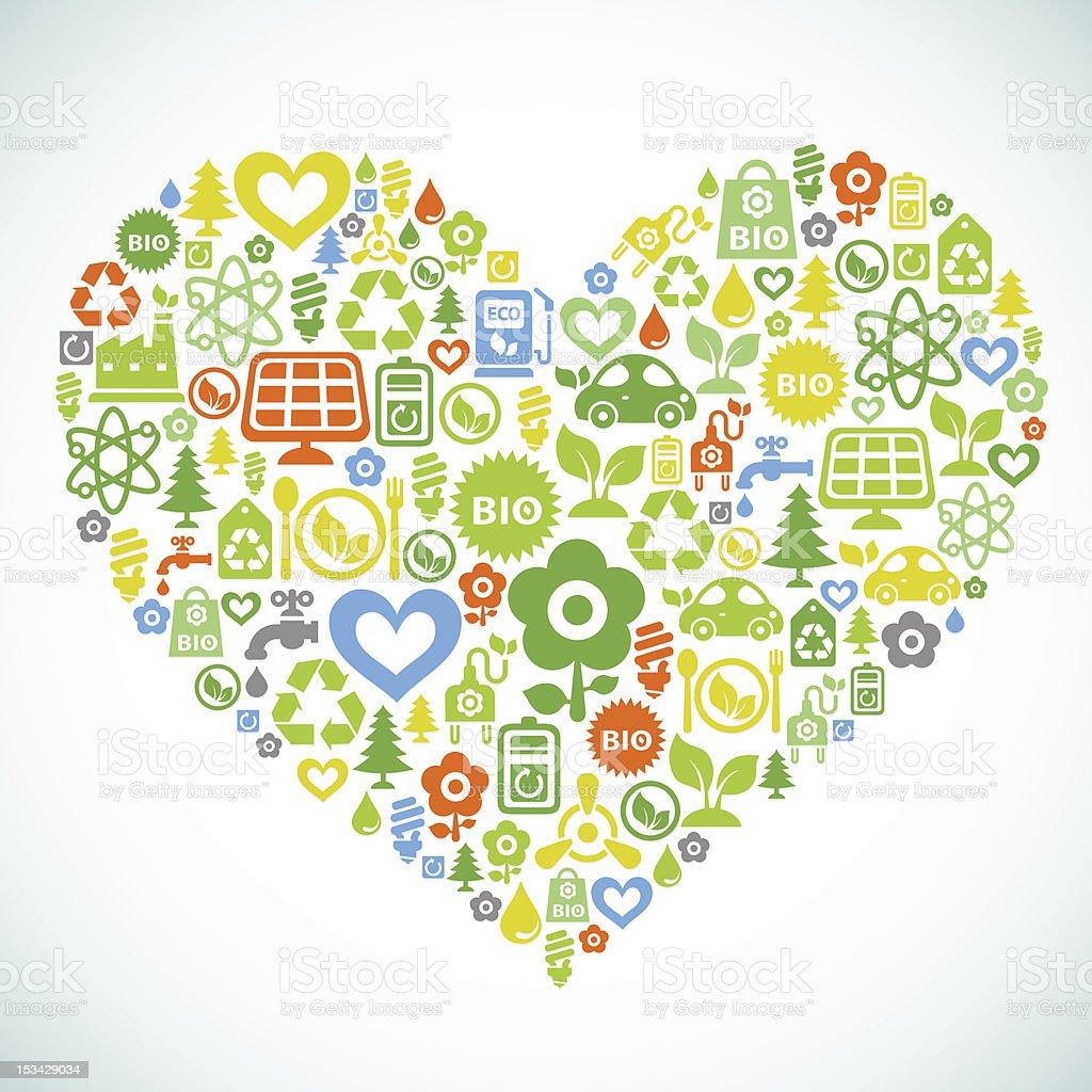 Ecology heart royalty-free stock vector art