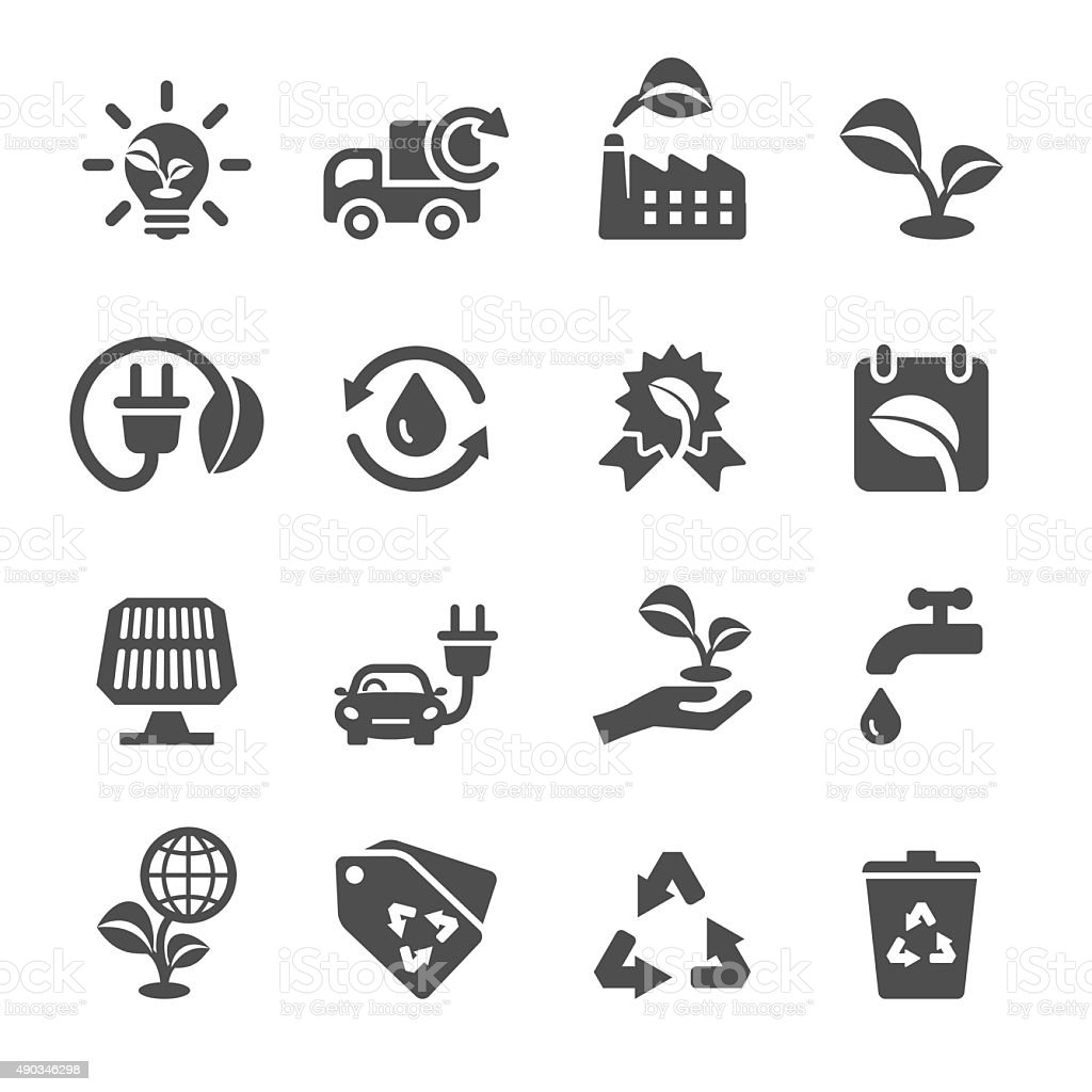ecology icon set, vector eps10 vector art illustration