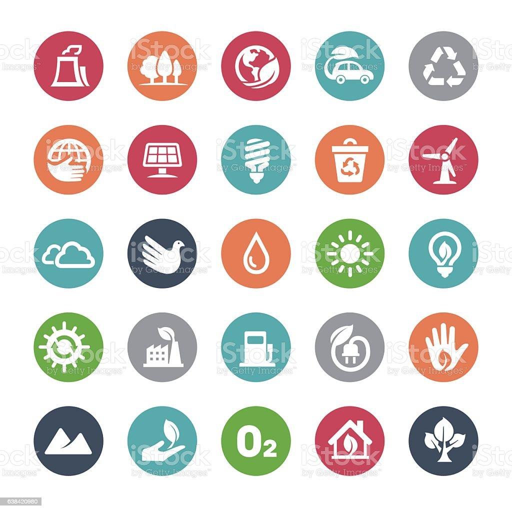 Ecology Icons - Bijou Series vector art illustration