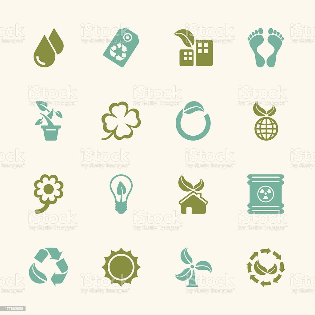Ecology Icons - Color Series | EPS10 royalty-free stock vector art