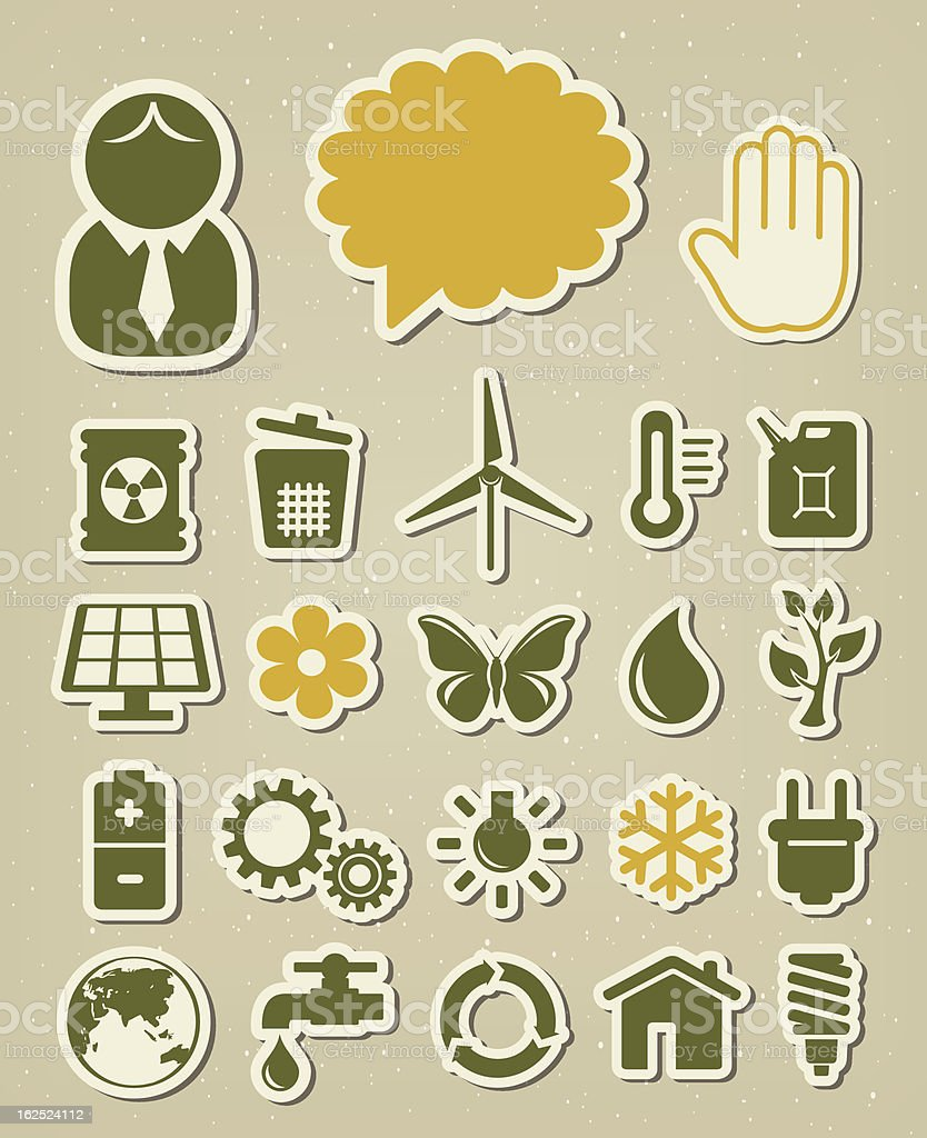Ecology icons set royalty-free stock vector art