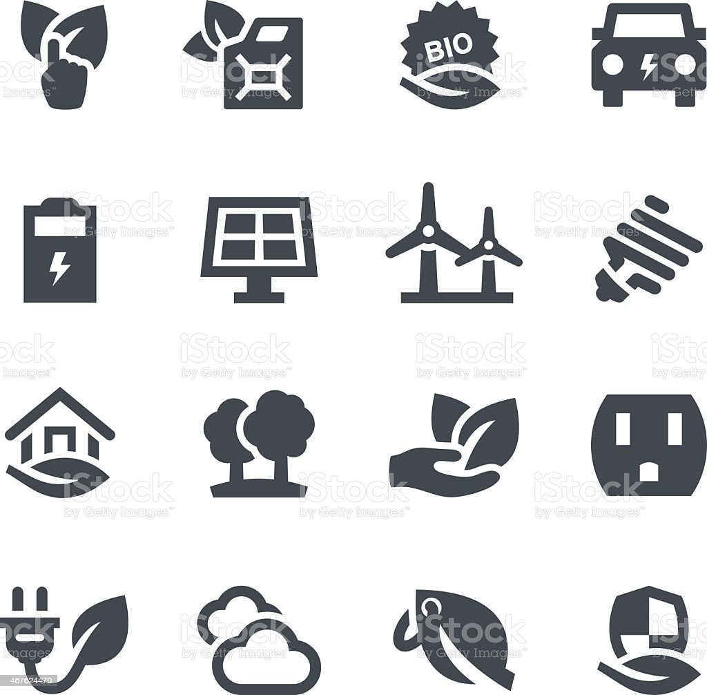 Ecology Icons vector art illustration