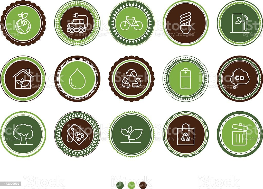 ecology icons royalty-free stock vector art