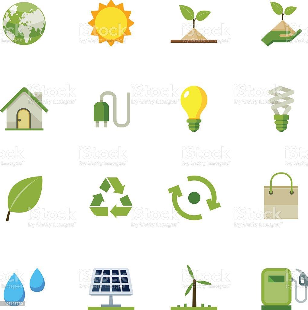 Ecology icons vector art illustration