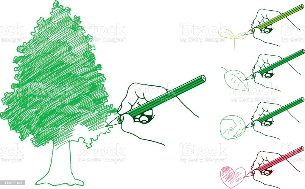 ecology image  drawings royalty-free stock vector art