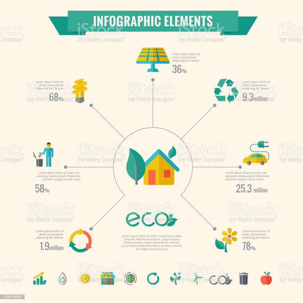 Ecology Infographic Elements vector art illustration