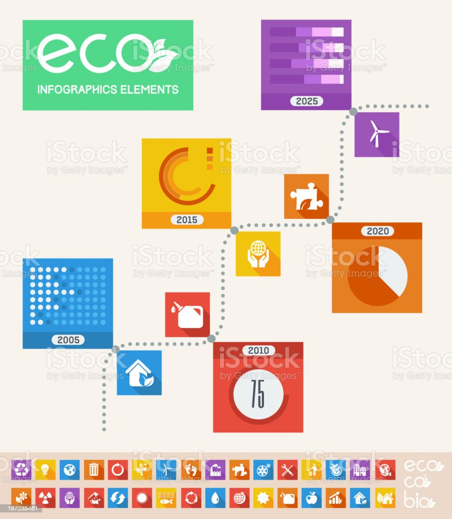 Ecology Infographic Template. royalty-free stock vector art