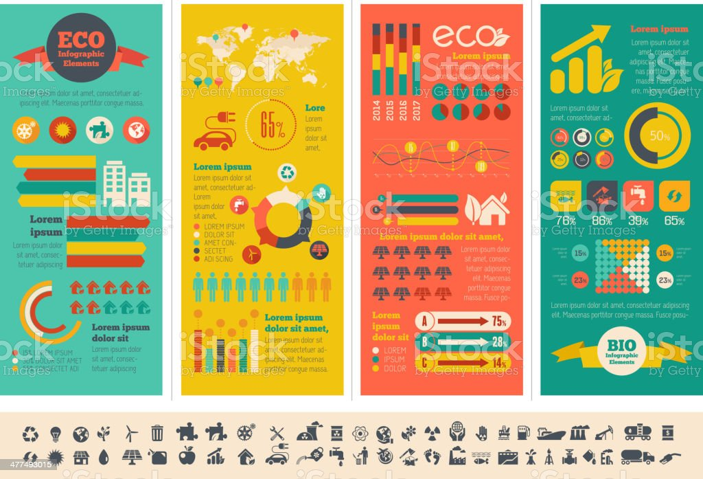 Ecology Infographic Template. vector art illustration