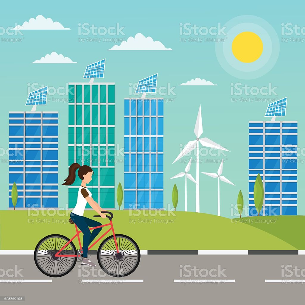 Ecology infographic vector elements illustration and environmental risks and pollution vector art illustration