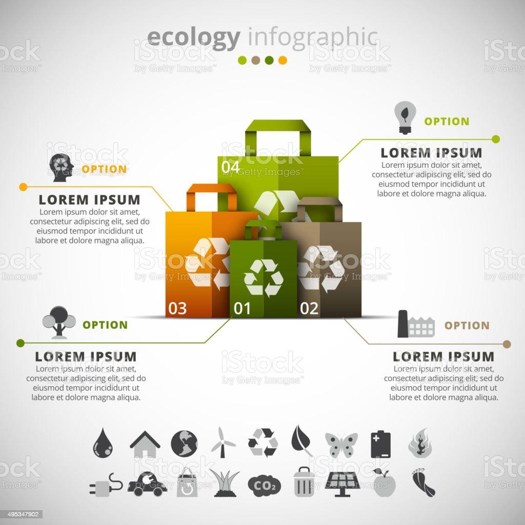 Ecology Infographic vector art illustration