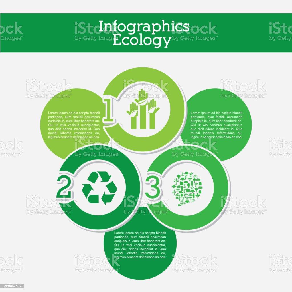 ecology infographics vector art illustration