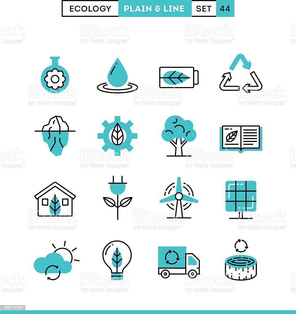 Ecology, nature, clean energy, recycling and more. vector art illustration