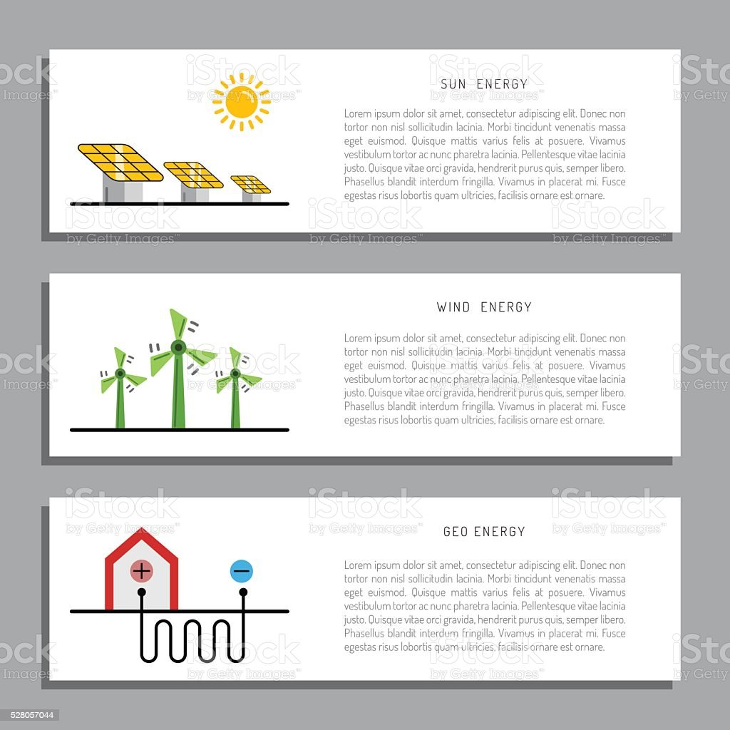 Ecology power concept 12 vector art illustration
