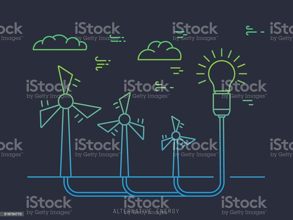 Ecology power concept 17 vector art illustration