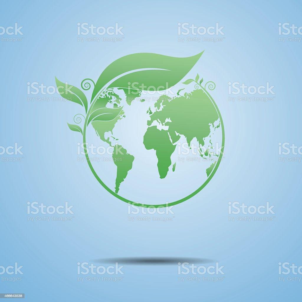 Ecology the earth vector art illustration
