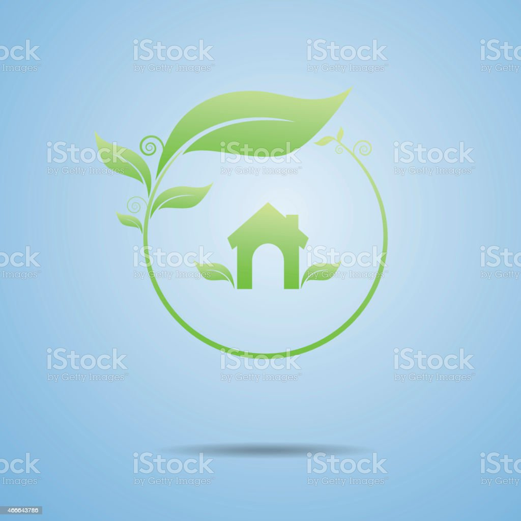 Ecology the house stock photo