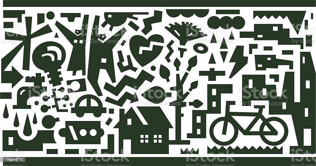 Ecology - vector background royalty-free stock vector art