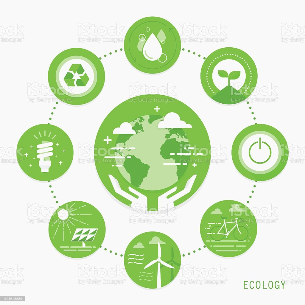 Ecology vector art illustration