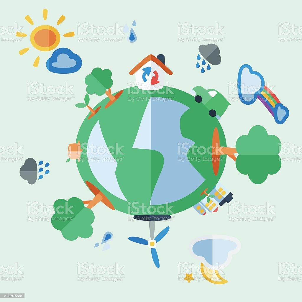 Ecology vector art illustration
