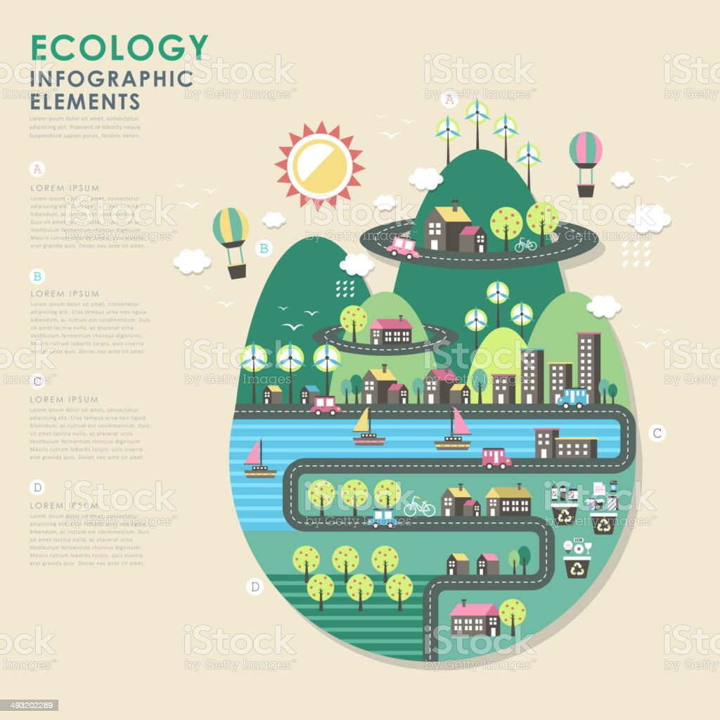 ecology vector illustration infographics vector art illustration
