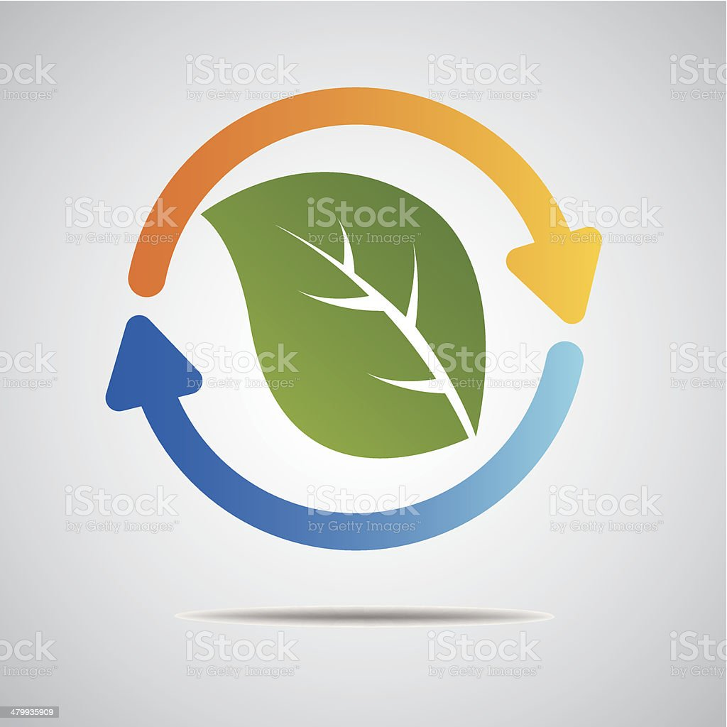 Ecology web icons green royalty-free stock vector art