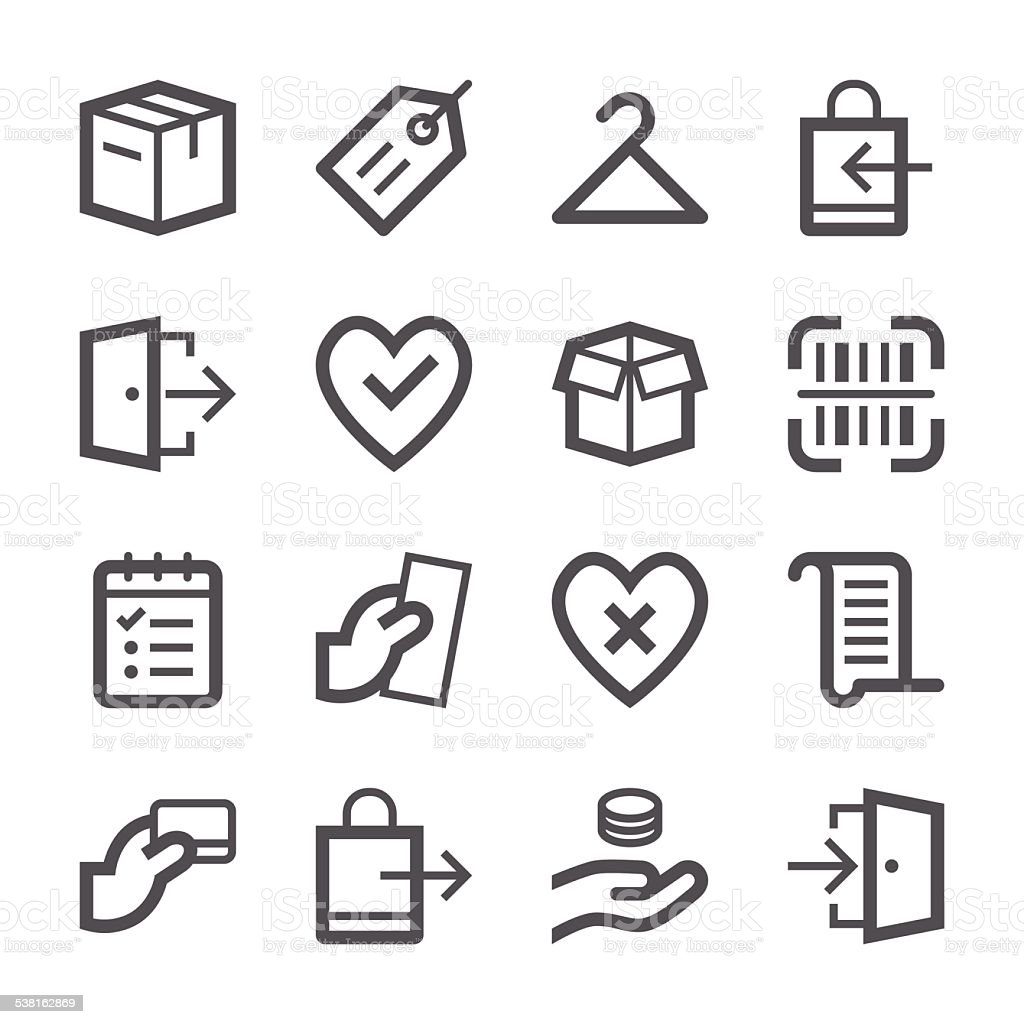 E-Commerce and Shopping Icons set 2 | Stroke Series vector art illustration