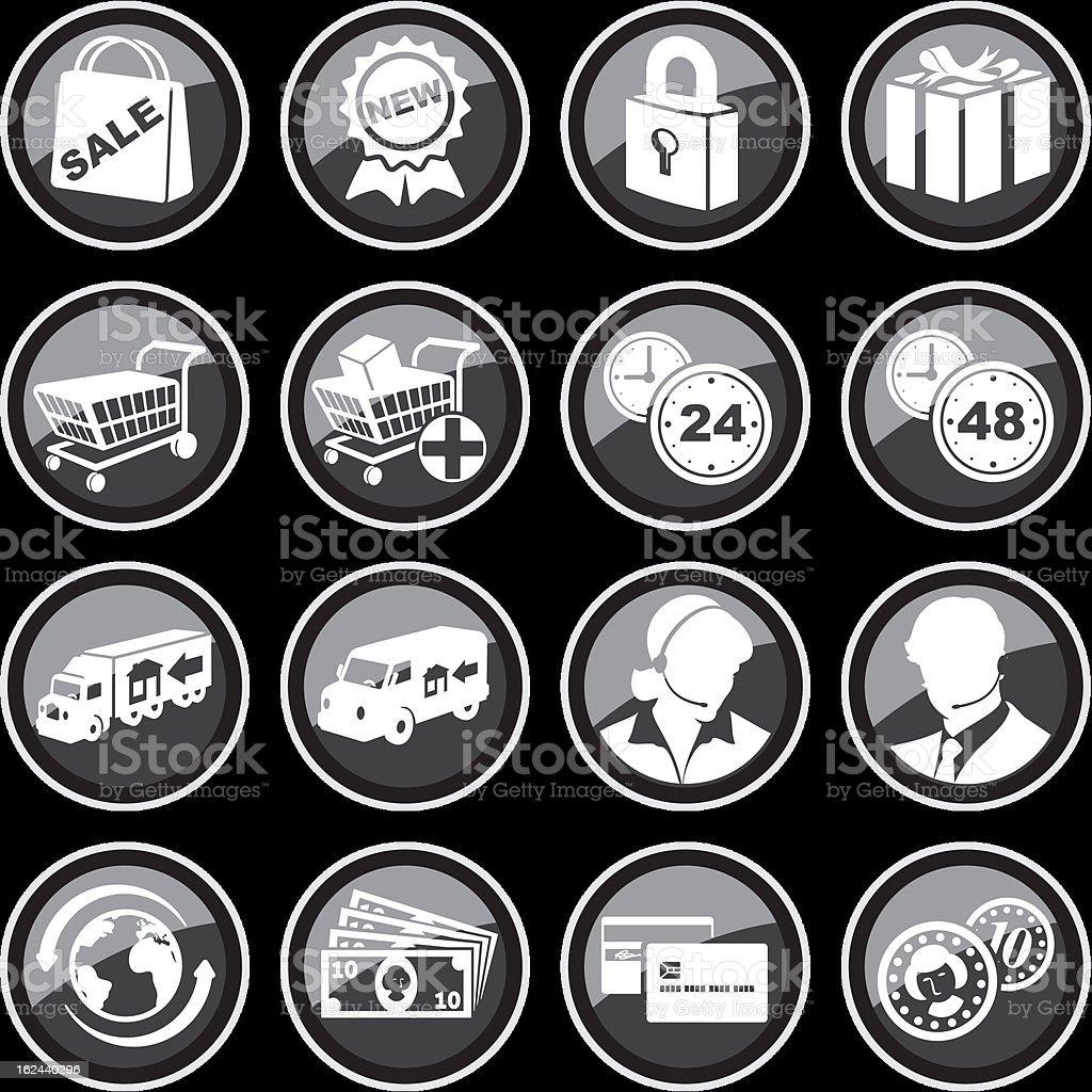 E-commerce Icon Set royalty-free stock vector art