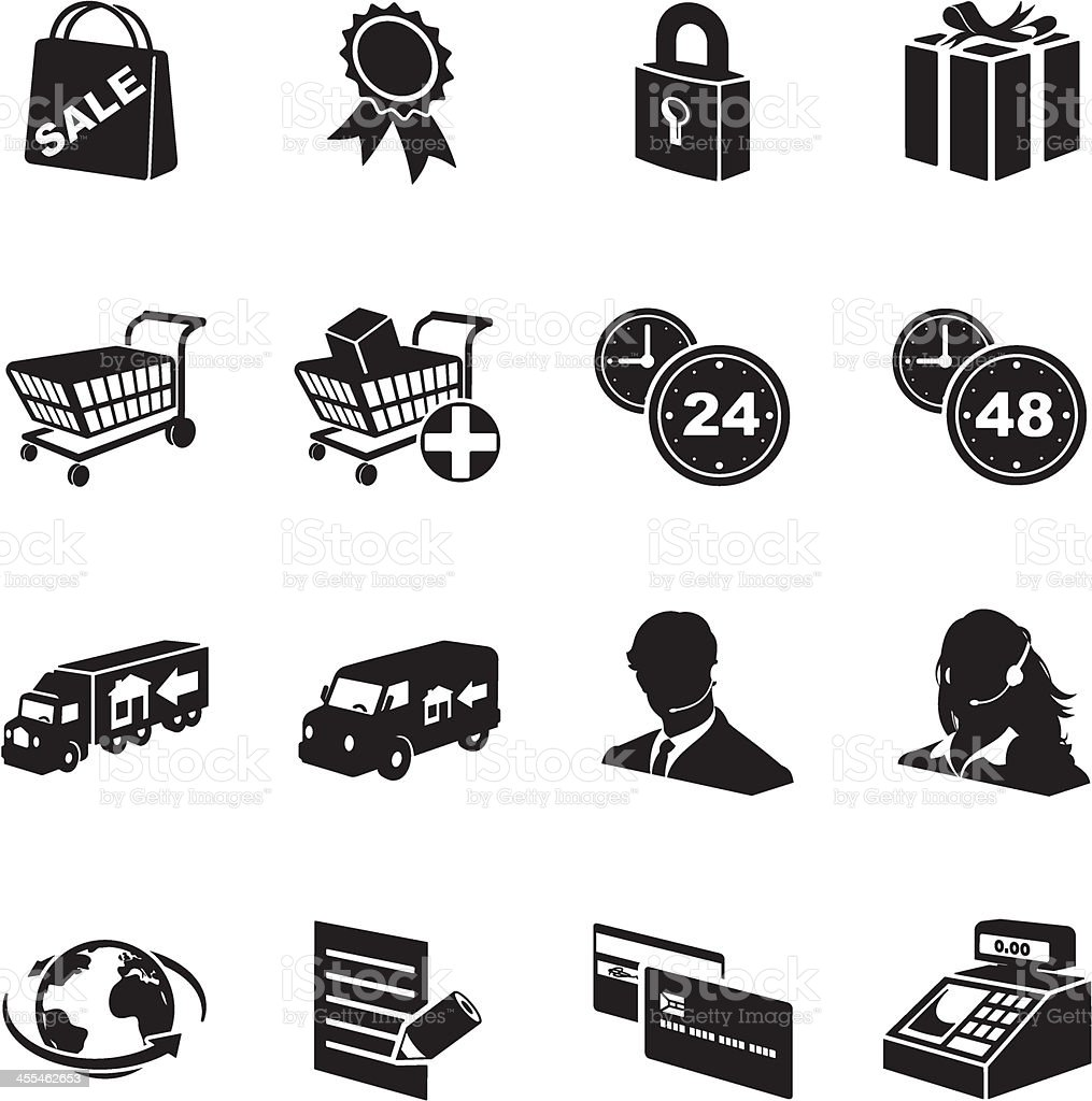 E-commerce Icon Set royalty-free stock vector art