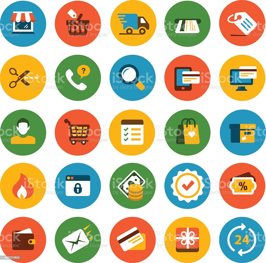 Ecommerce Icon Set vector art illustration