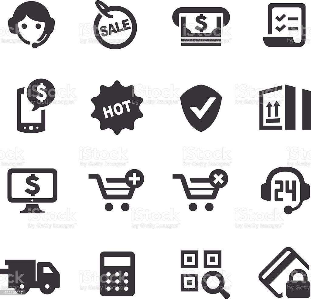 E-commerce Icons - Acme Series vector art illustration