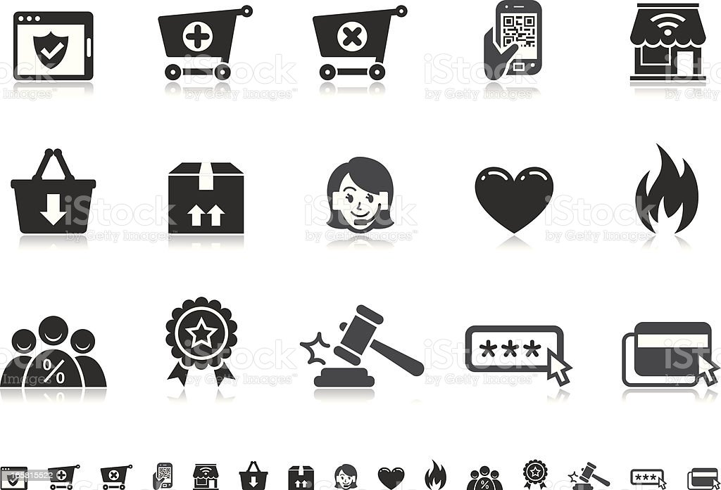 E-Commerce icons | Pictoria series royalty-free stock vector art
